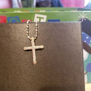 Jewelry - 14 kt yellow gold cross and chain